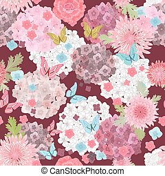 floral, abstract ontwerp, seamless, textuur