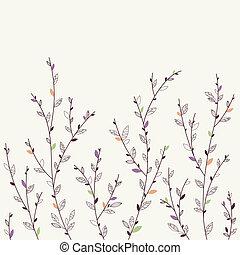 floral, achtergrond., communie, ontwerp