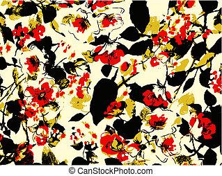floral, achtergrond, textuur