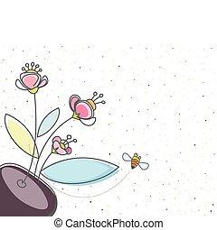 floral, bij