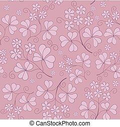 floral, bloemen, vector, seamless, textuur