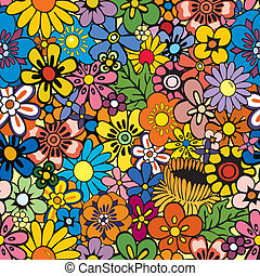 floral, het herhalen, achtergrond