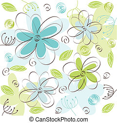 floral, kaart