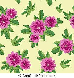 floral, malva, seamless, textuur