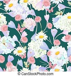 floral, mode ontwerp, seamless, textuur
