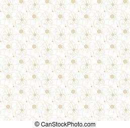 floral, seamless, textuur