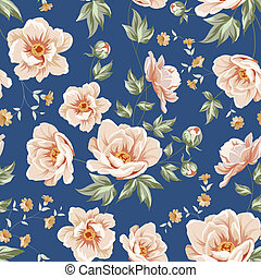 floral tichel, pattern.