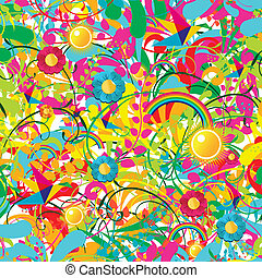 floral, vibrant, zomer, model
