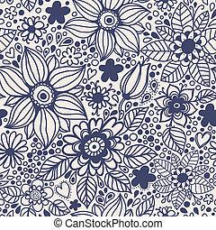 flowers., seamless, textuur