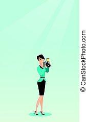 fotograaf, boeiend, vector, illustration., foto