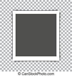 fotokader, retro, achtergrond, schaduw, transparant