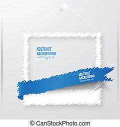 fotokader, vector, illustration., banner.