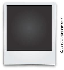 fotolijst, vector, polaroid