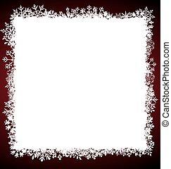 frame, plein, winter, snowflakes