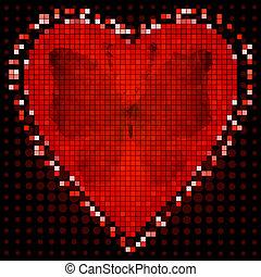 frame, rood, valentijn