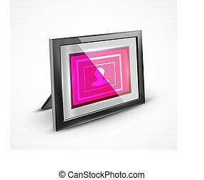 frame, vector, achtergrond