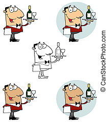 garçon, portie, wijntje