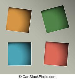 gaten, plein, papier, achtergrond, minimalistic