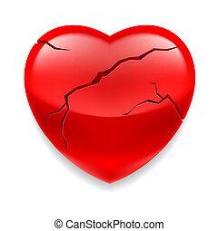 gebarsten, hart