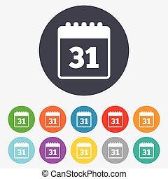 gebeurtenis, meldingsbord, reminder., kalender datum, icon., of
