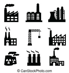 gebouwen, industriebedrijven