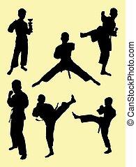 geitjes, karate, 03., silhouette