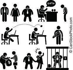 gekke , baas, zakenkantoor, pictogram