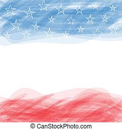 gekraste, frame., usa, flag., groot, poster