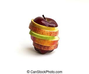 gemengd, fruit.