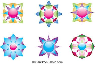 geometrisch, 3, iconen