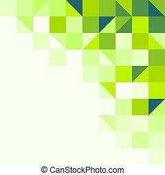 geometrisch, groene achtergrond