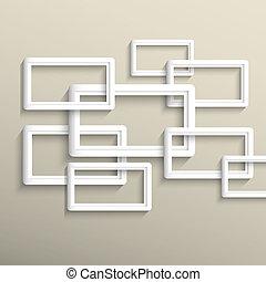 geometrisch, vector, achtergrond, 3d