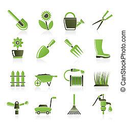 gereedschap, tuinieren, tuin