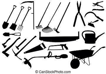 gereedschap, tuinieren, verzameling