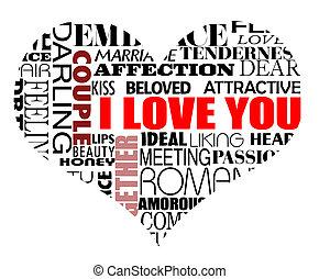 gevarieerd, liefde, woorden