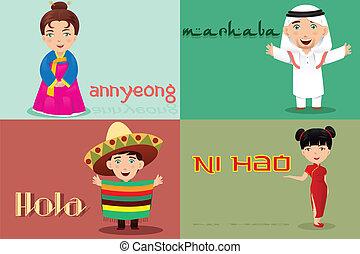 gezegde, anders, hallo, cultures, mensen