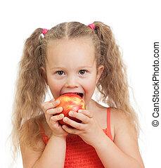 gezond voedsel, eten, appeltjes , kind