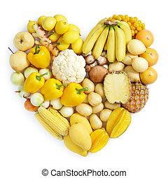 gezond voedsel, gele