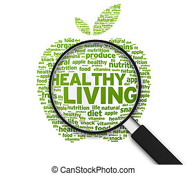 gezonde , glas, -, vergroten, levend