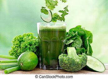 gezonde , sap, groene