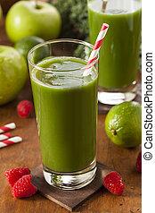 gezonde , smoothi, sap, fruit, groen groente