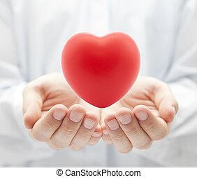 gezondheid, concept, liefde, verzekering, of