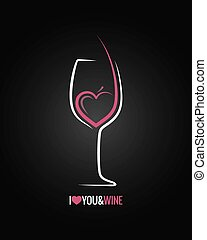 glas, concept, achtergrond, wijntje