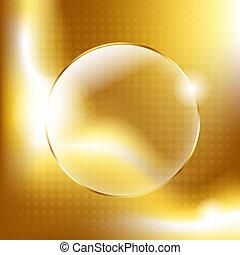 glas, gelul, goud, achtergrond