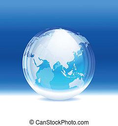 globe, vector, transparant, sneeuw