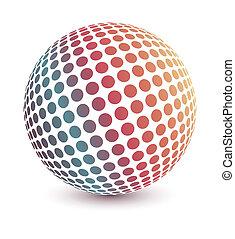 globe, vector., veelkleurig
