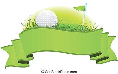 golf, spandoek
