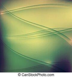 golven, achtergrond, groene samenvatting