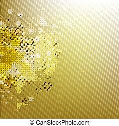 goud, achtergrond, vaag