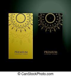 goud, kleur, black , luxe, ontwerp, mandala, kaart
